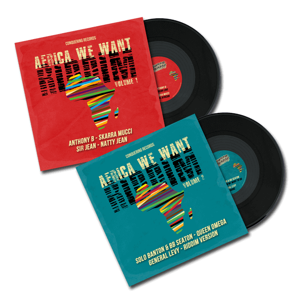 Double vinyles AFRICA WE WANT RIDDIM